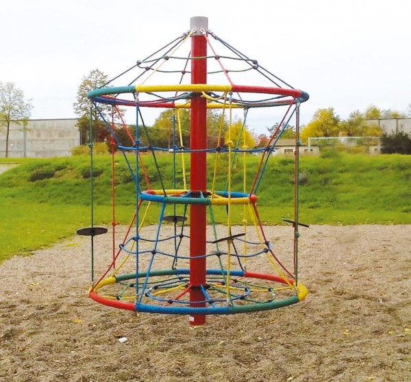 espas Kletternetz-Turm drehbar mit gepulvertem Mast