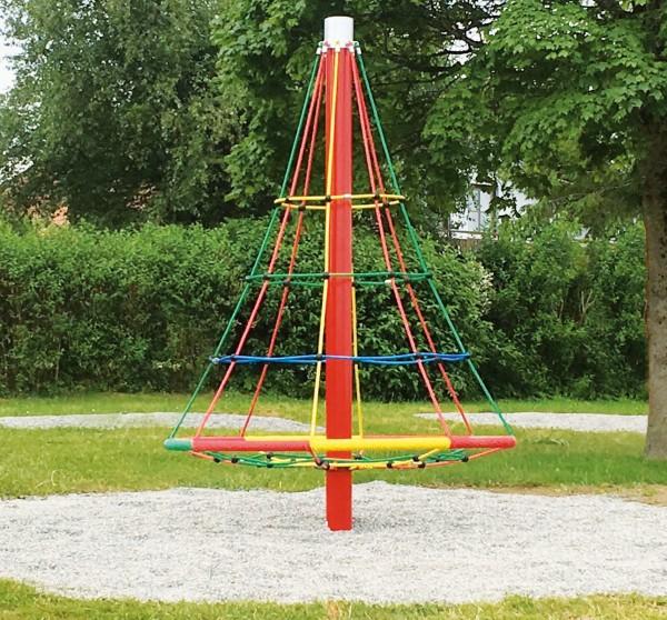 espas Kletternetz-Pyramide drehbar mit gepulvertem Mast