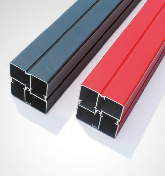 espas Spezial Alu Profil pulverbeschichtet rot